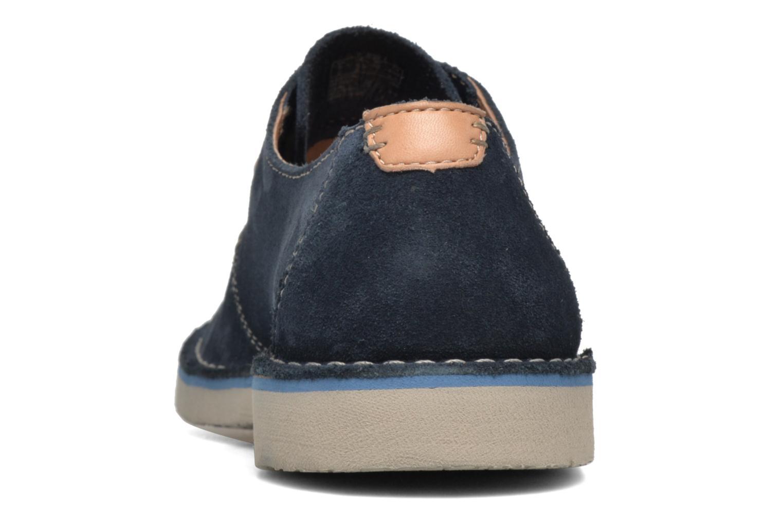 Chaussures à lacets Clarks Jareth Walk Bleu vue droite