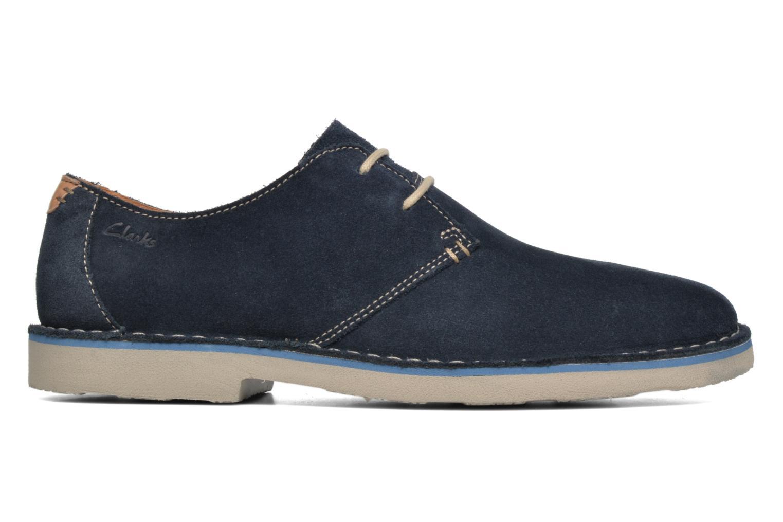 Chaussures à lacets Clarks Jareth Walk Bleu vue derrière