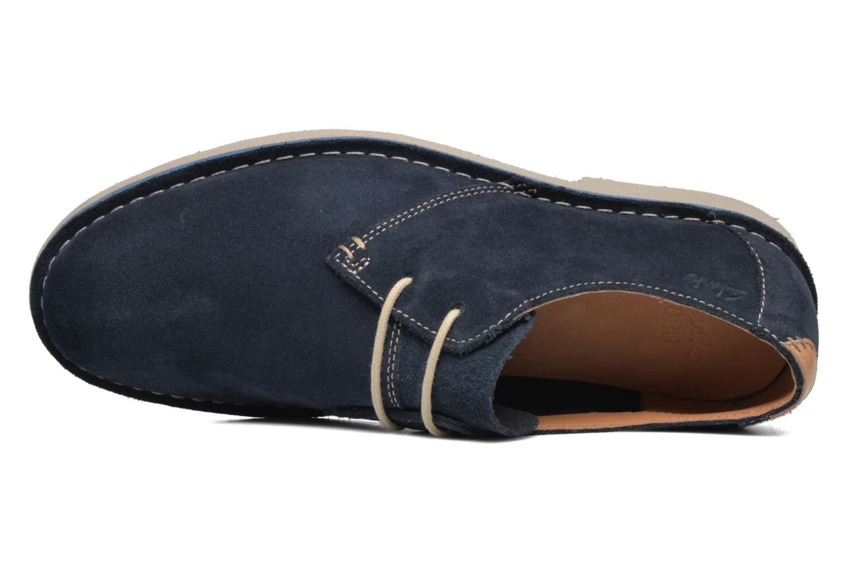 Chaussures à lacets Clarks Jareth Walk Bleu vue gauche