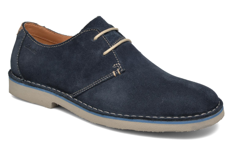 Chaussures à lacets Clarks Jareth Walk Bleu vue détail/paire
