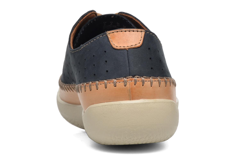 Chaussures à lacets Clarks Veho Edge Bleu vue droite