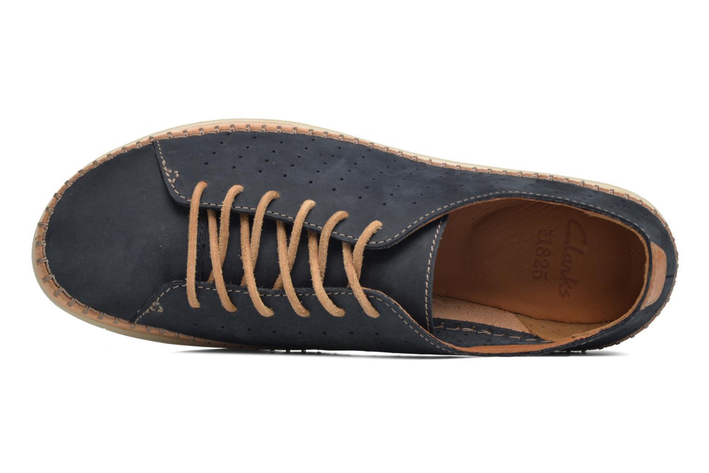 Chaussures à lacets Clarks Veho Edge Bleu vue gauche