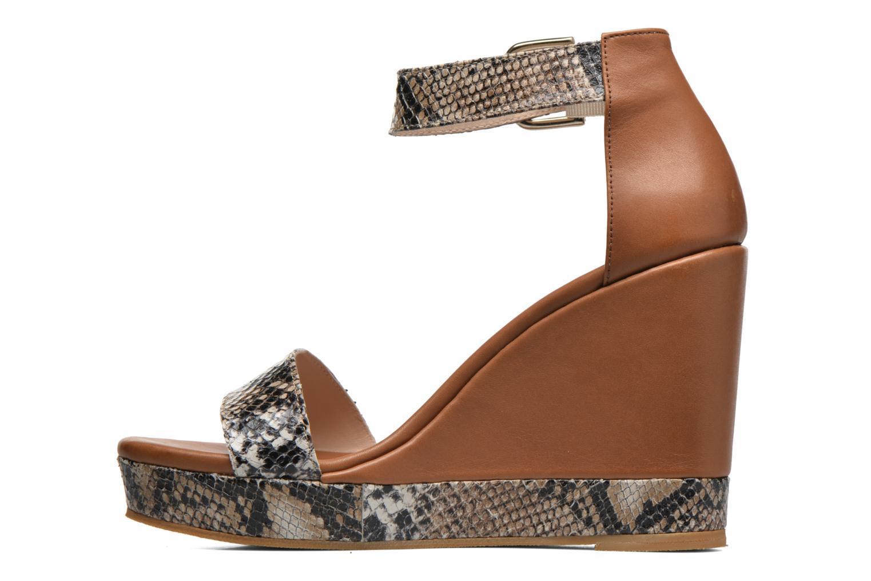 Sandales et nu-pieds Anaki Wave Marron vue face