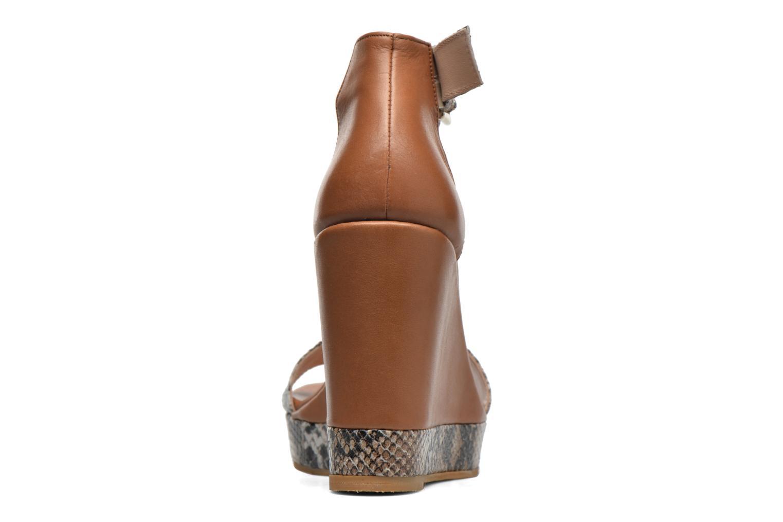 Sandales et nu-pieds Anaki Wave Marron vue droite