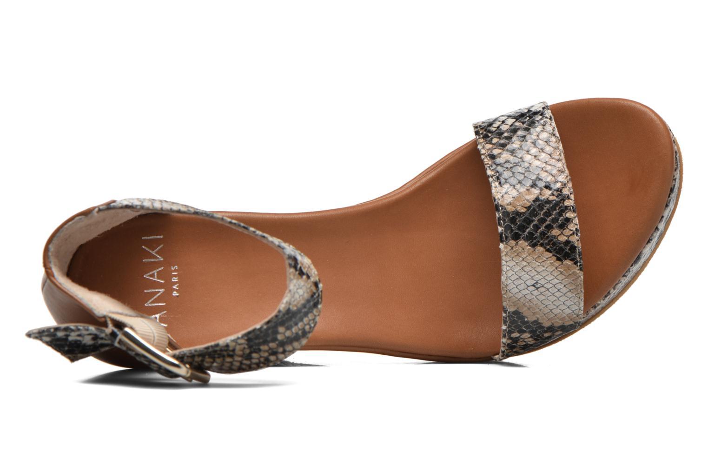 Sandales et nu-pieds Anaki Wave Marron vue gauche