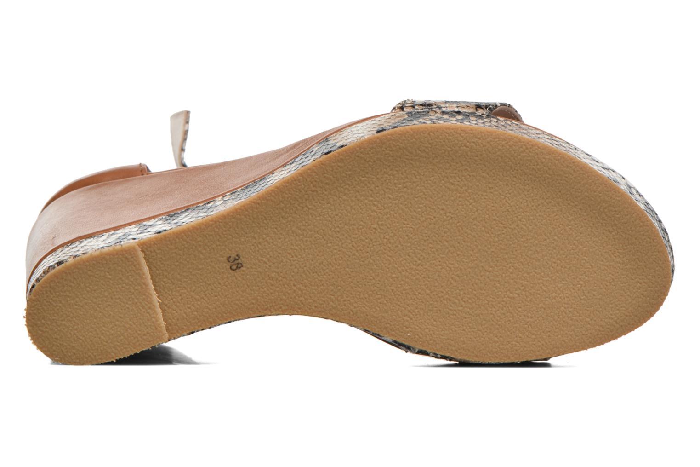 Sandales et nu-pieds Anaki Wave Marron vue haut