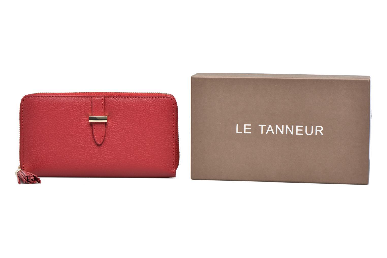 CAPUCINE Porte-monnaie long zippé Rouge