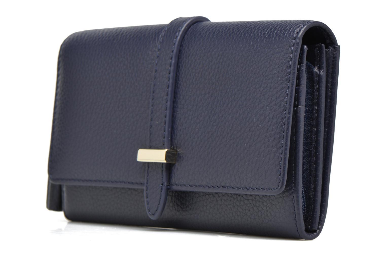 Petite Maroquinerie Le Tanneur CAPUCINE Porte-monnaie long Bleu vue portées chaussures