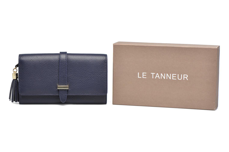 Petite Maroquinerie Le Tanneur CAPUCINE Porte-monnaie long Bleu vue détail/paire