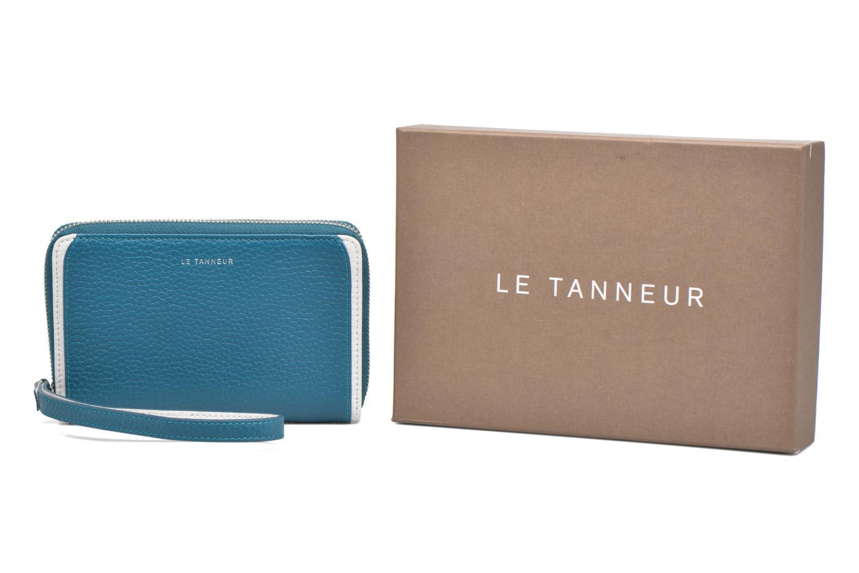 Petite Maroquinerie Le Tanneur AGATHE Porte-monnaie zippé téléphone Bleu vue détail/paire