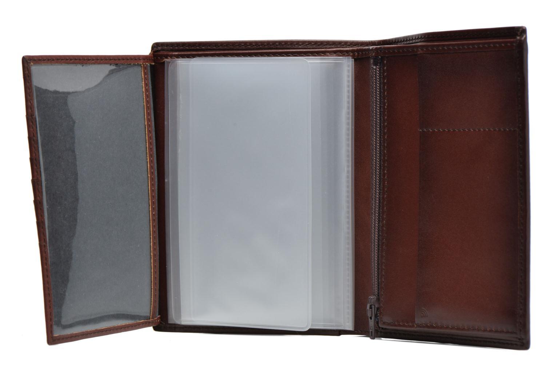 Petite Maroquinerie Le Tanneur CORENTIN Portefeuille poche zippée anti-RFID Marron vue derrière