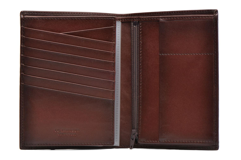 Petite Maroquinerie Le Tanneur CORENTIN Portefeuille poche zippée anti-RFID Marron vue gauche