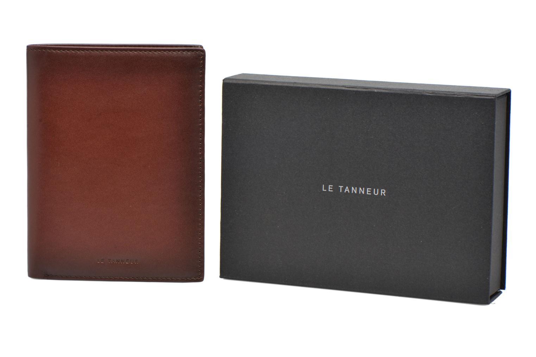 CORENTIN Portefeuille poche zippée anti-RFID marron