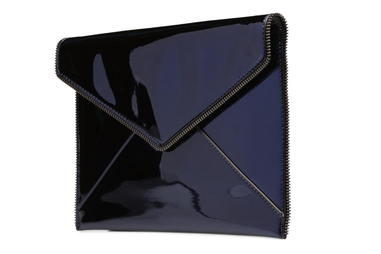 Pochette Rebecca Minkoff MIRRORED METALLIC LEO CLUTCH Azzurro modello indossato