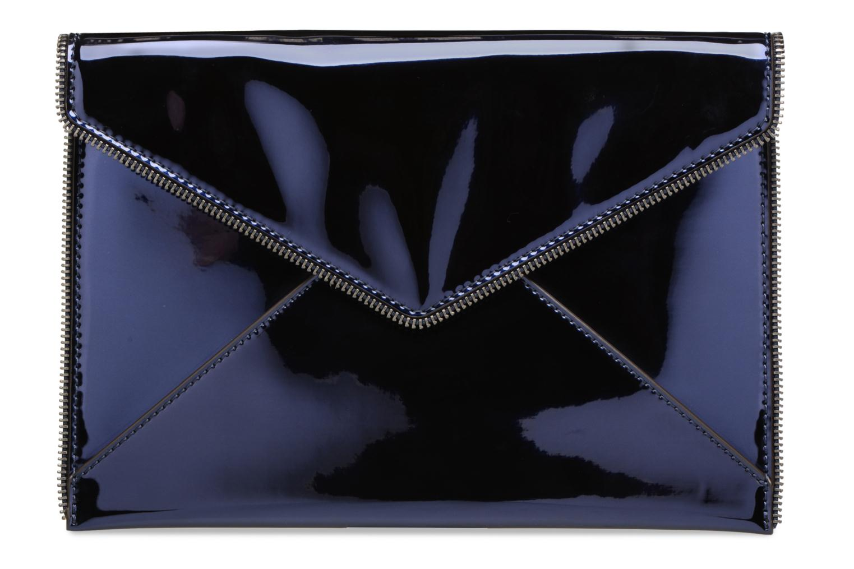 Sacs pochettes Rebecca Minkoff MIRRORED METALLIC LEO CLUTCH Bleu vue détail/paire