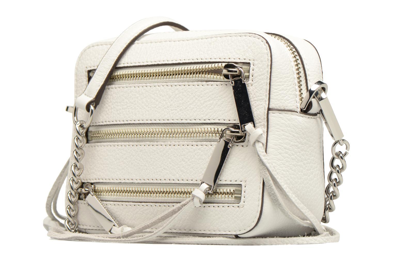 Handtaschen Rebecca Minkoff 4 ZIP MOTO CAMERA BAG weiß schuhe getragen
