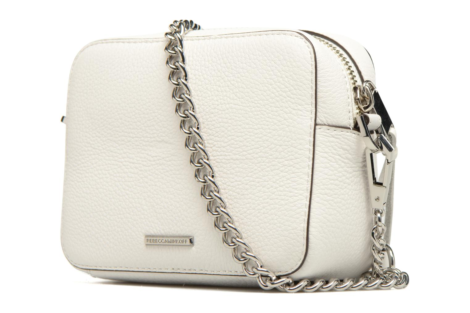 Bolsos de mano Rebecca Minkoff 4 ZIP MOTO CAMERA BAG Blanco vista lateral derecha