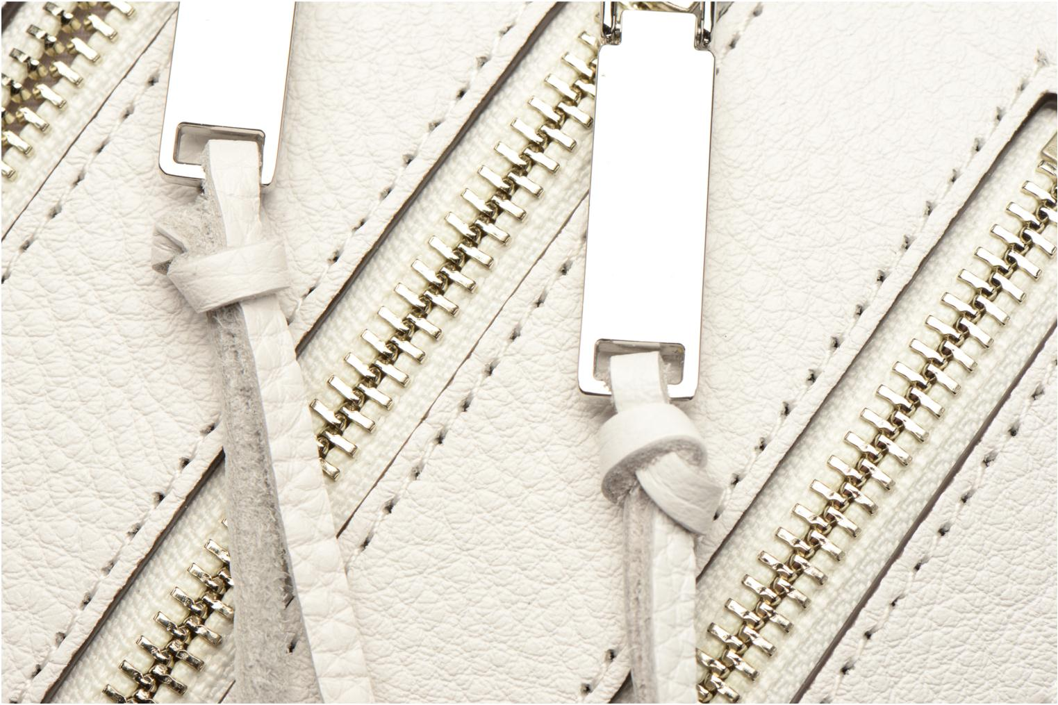 Bolsos de mano Rebecca Minkoff 4 ZIP MOTO CAMERA BAG Blanco vista lateral izquierda