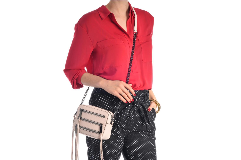 Handtaschen Rebecca Minkoff 4 ZIP MOTO CAMERA BAG weiß ansicht von oben