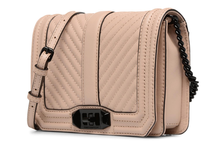 Handtaschen Rebecca Minkoff CHEVRON QUILTED SMALL LOVE CRO beige schuhe getragen