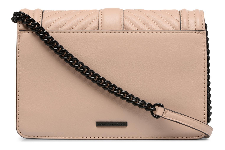 Handtaschen Rebecca Minkoff CHEVRON QUILTED SMALL LOVE CRO beige ansicht von vorne
