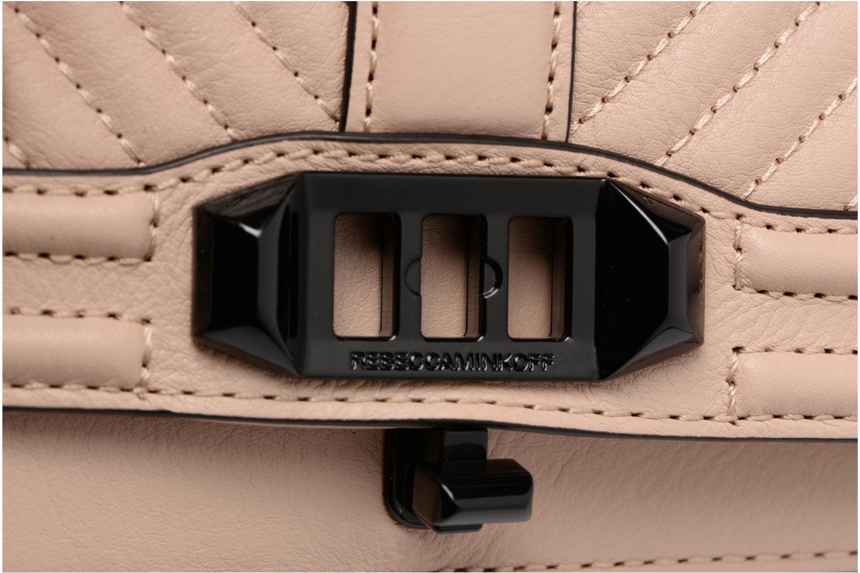 Handtaschen Rebecca Minkoff CHEVRON QUILTED SMALL LOVE CRO beige ansicht von links