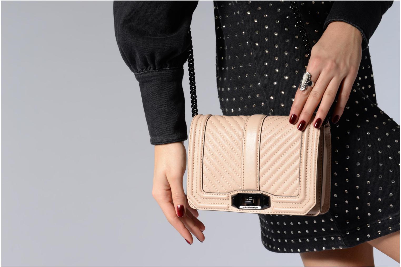Handtaschen Rebecca Minkoff CHEVRON QUILTED SMALL LOVE CRO beige ansicht von oben