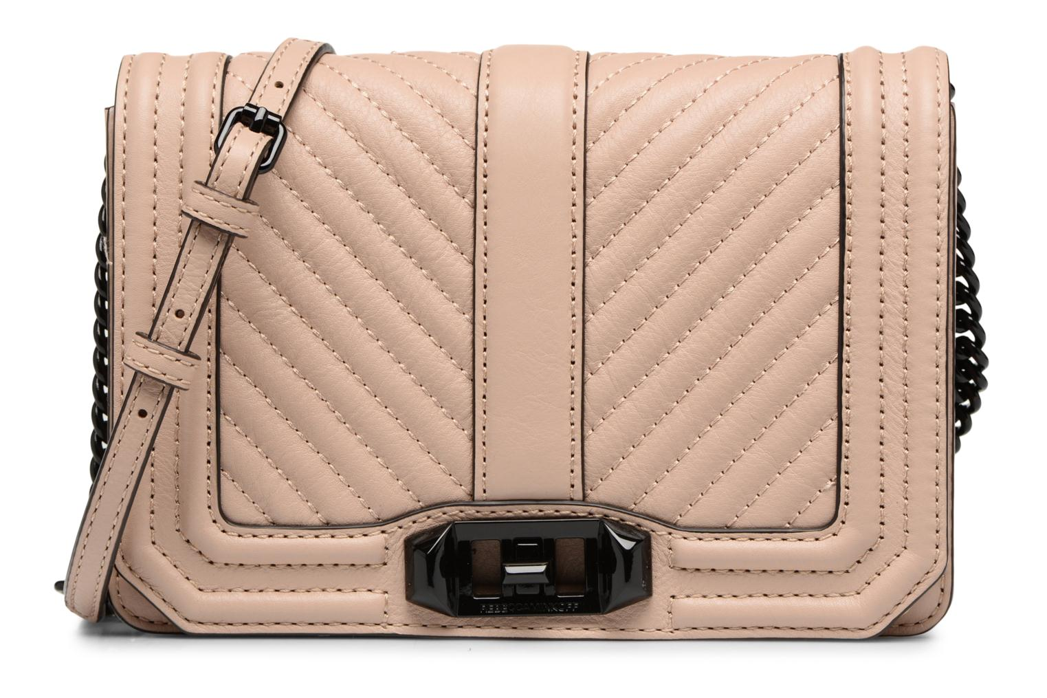 CHEVRON QUILTED SMALL LOVE CRO NUDE 270
