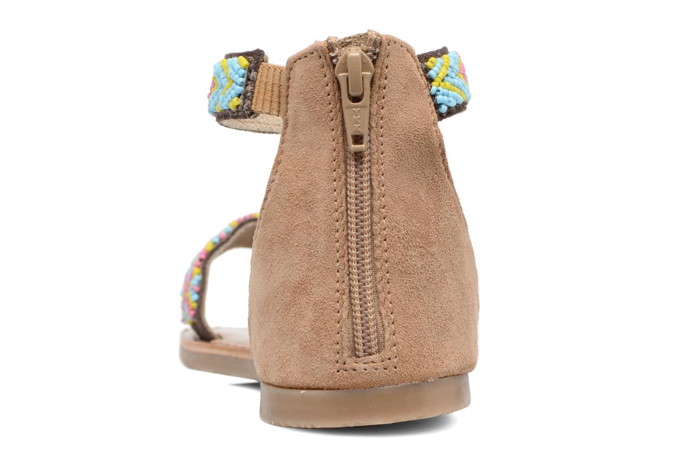 Sandales et nu-pieds Xti Brigida Marron vue droite
