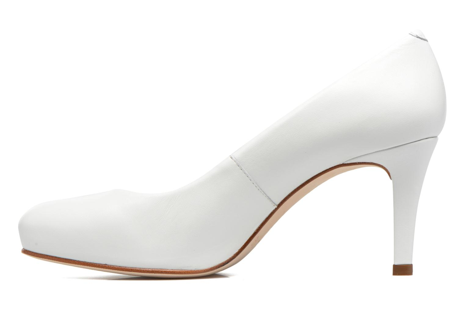 High heels Unisa Nade White front view