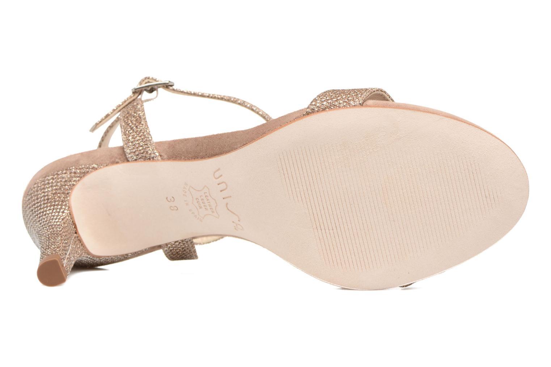 Sandales et nu-pieds Unisa Olea Beige vue haut