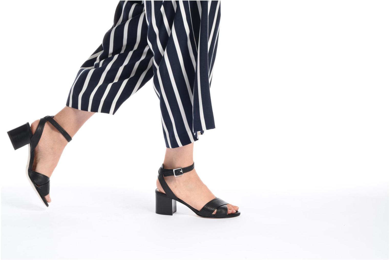 Sandales et nu-pieds Unisa Orno Noir vue bas / vue portée sac