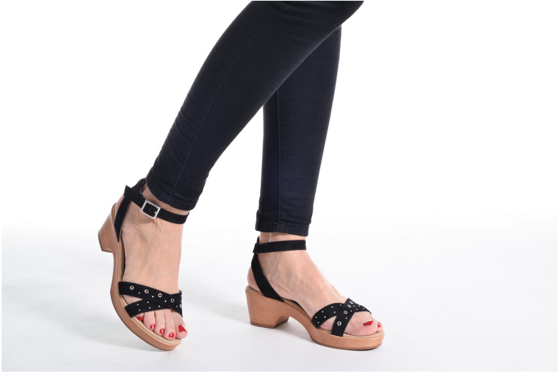 Sandales et nu-pieds Unisa Irita 3 Noir vue bas / vue portée sac