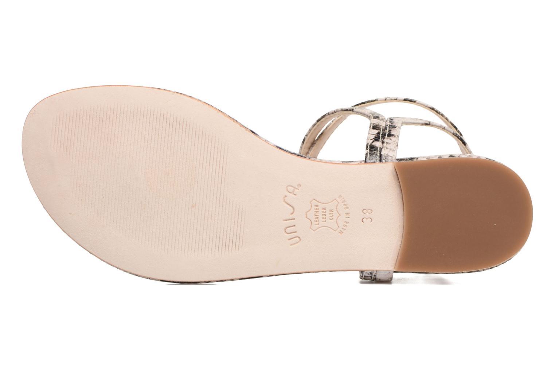 Sandales et nu-pieds Unisa Charle Gris vue haut