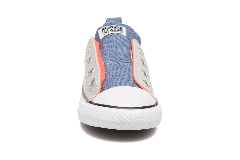 Baskets Converse Chuck Taylor All Star Simple Slip Gris vue portées chaussures