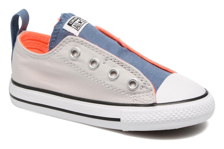 Deportivas Converse Chuck Taylor All Star Simple Slip Gris vista de detalle / par