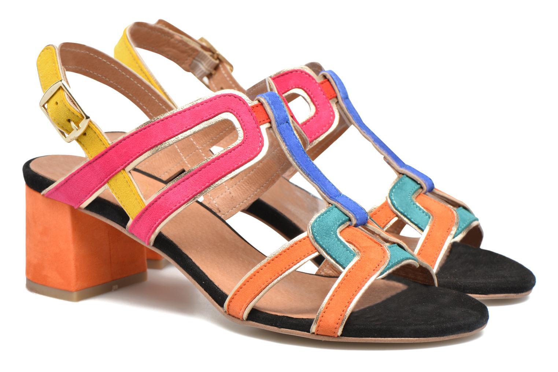 Sandales et nu-pieds Made by SARENZA Frida Banana #2 Multicolore vue derrière