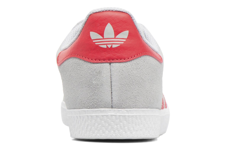 Baskets Adidas Originals Gazelle J Gris vue droite