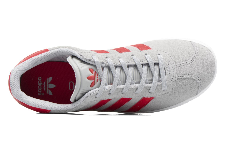 Baskets Adidas Originals Gazelle J Gris vue gauche