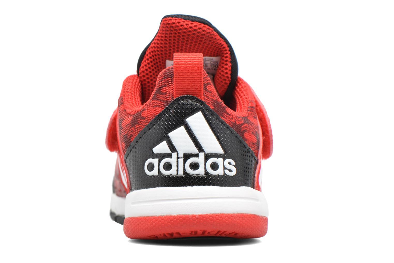 Baskets Adidas Performance Marvel Spider-Man Cf I Rouge vue droite