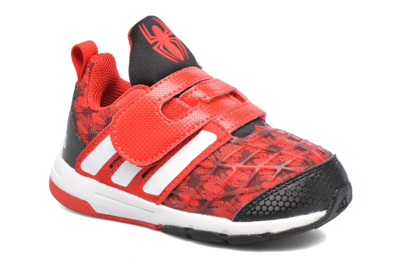 Baskets Adidas Performance Marvel Spider-Man Cf I Rouge vue détail/paire