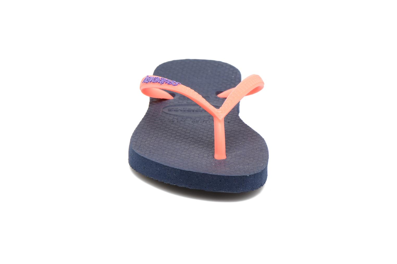 Flip flops Havaianas Kids Slim Logo Blue model view