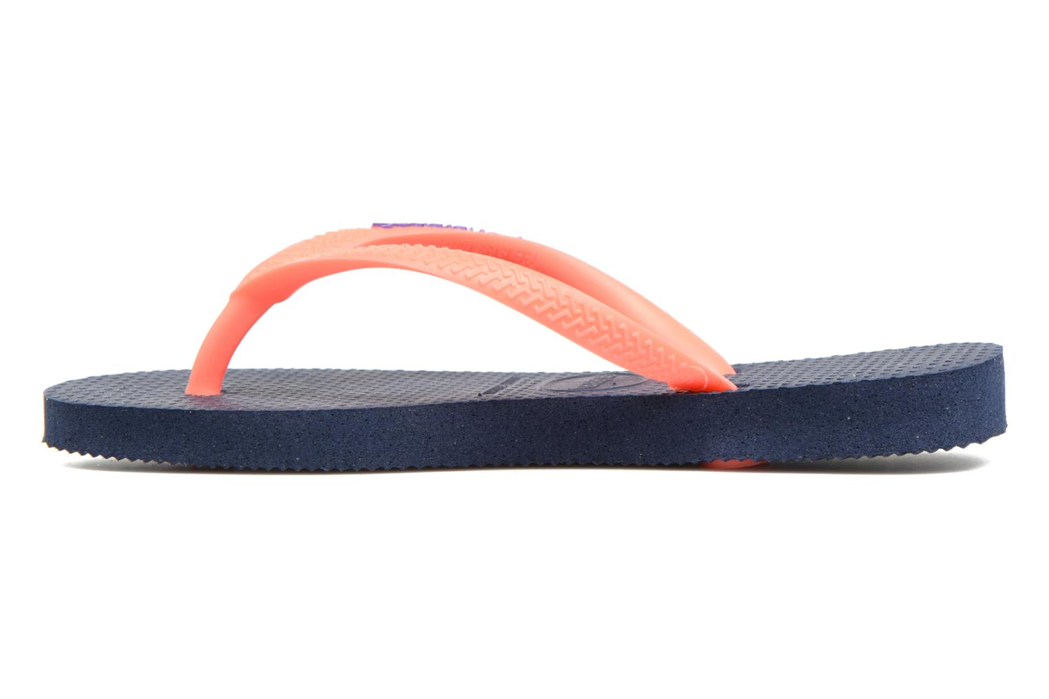 Tongs Havaianas Kids Slim Logo Bleu vue face