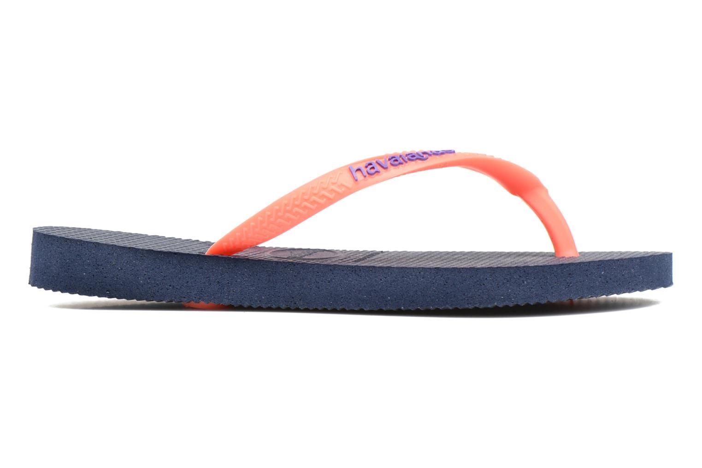 Flip flops Havaianas Kids Slim Logo Blue back view