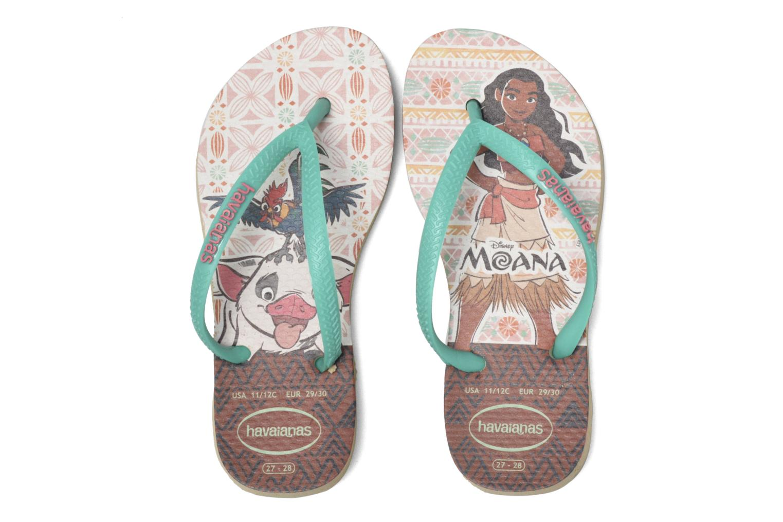 Flip flops & klipklapper Havaianas Kids Slim Moana Beige 3/4 billede