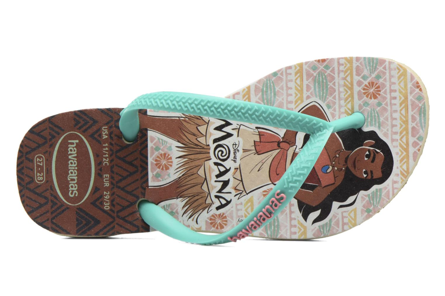 Flip flops Havaianas Kids Slim Moana Beige view from the left