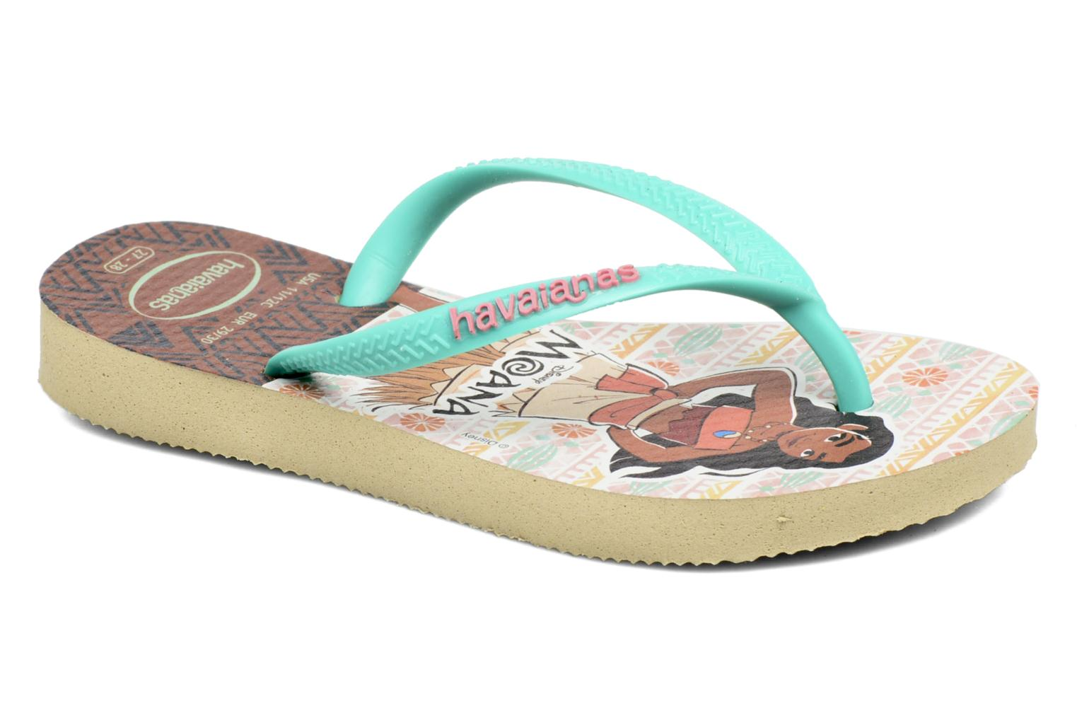 Flip flops Havaianas Kids Slim Moana Beige detailed view/ Pair view