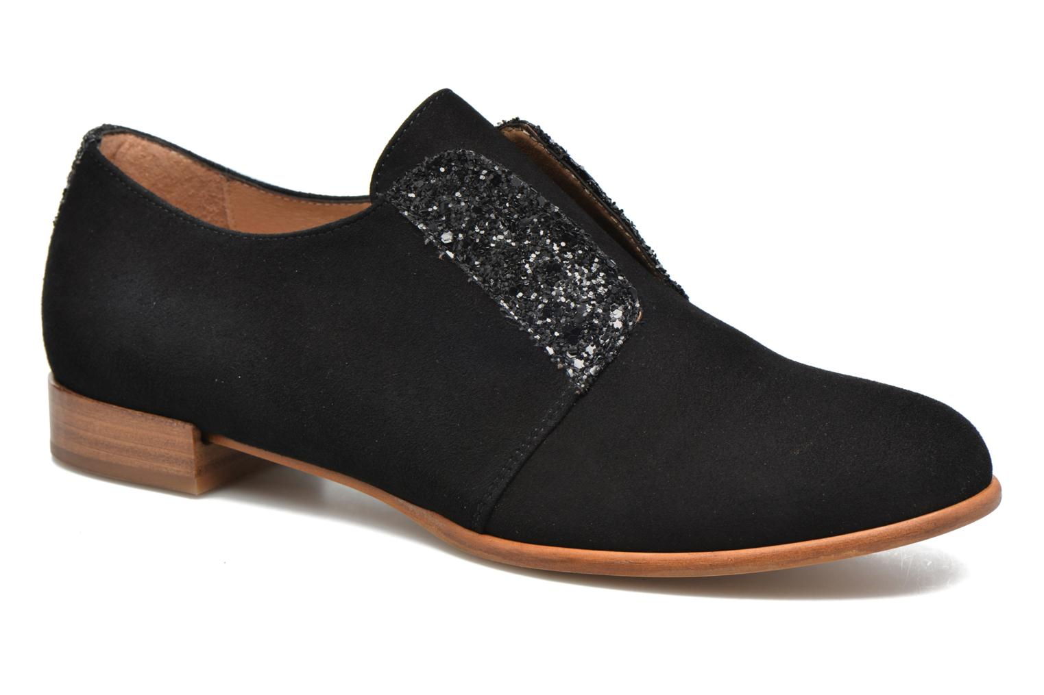 Lace-up shoes Georgia Rose Tadaa Black detailed view/ Pair view