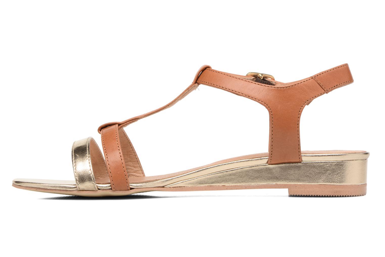 Sandales et nu-pieds Georgia Rose Tabilo Marron vue face