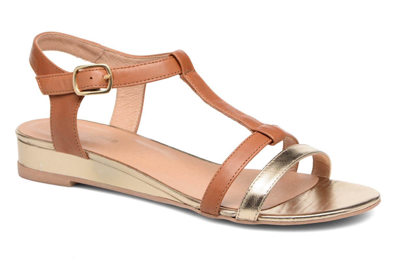 Sandaler Georgia Rose Tabilo Brun detaljeret billede af skoene